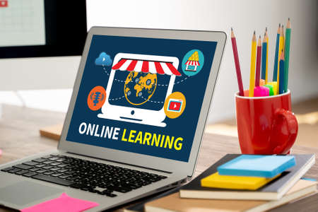 ONLINE LEARNING student study using laptop Learning Global Connectivity  learning online