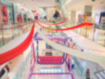 Abstract blur shopping mall and amusement park background