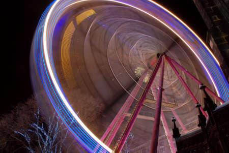 Ferris Wheel by Night Stock Photo