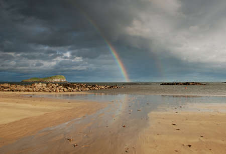 Rainbow over the sea, North Berwick photo