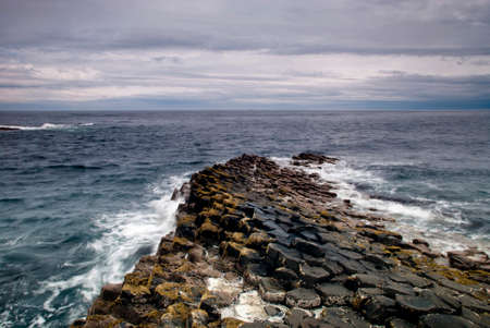 Giants Causeway and the sea
