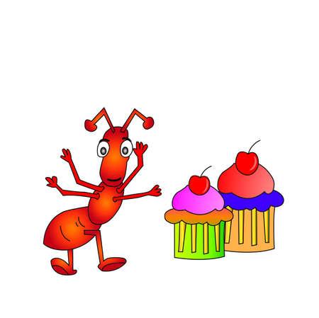 invasive: ant Illustration