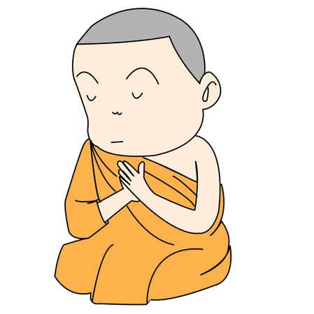 monk Stock Vector - 15725732