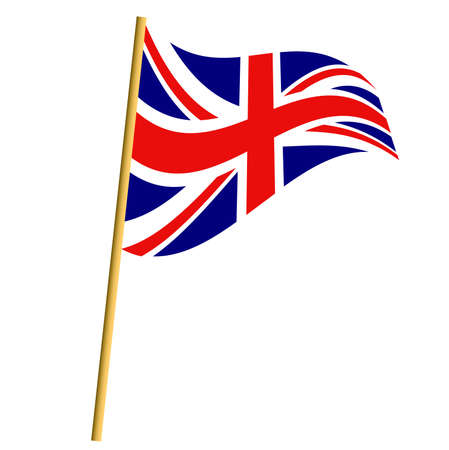 brytanii: Flaga Polski Ilustracja