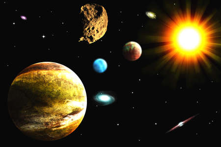 interstellar: galaxy Illustration