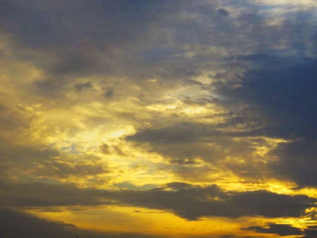 Dramatics sunset sky with clouds for background Stock Photo