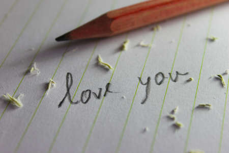 I love you paper note Stock Photo - 21967912