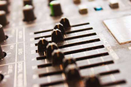 Mixing board close up Stock Photo - 22342487