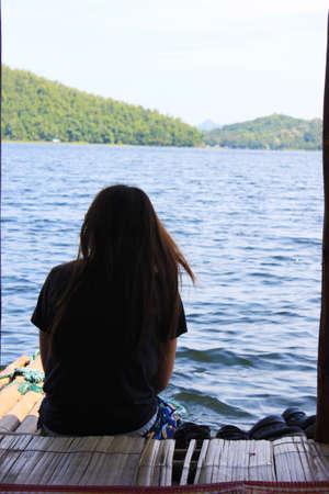 Lonely teenage girl sitting Banco de Imagens - 24658403