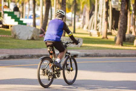 switchback: cycling Stock Photo