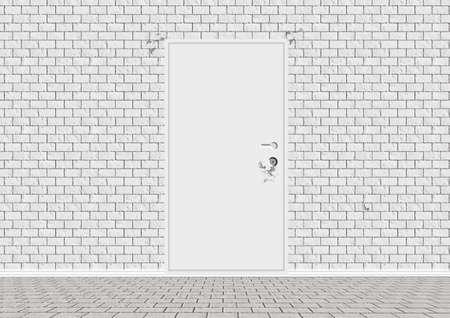 doorhandle: Vector White Closed Door Stock Photo