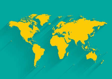 carte du monde: carte vecteur mondiale