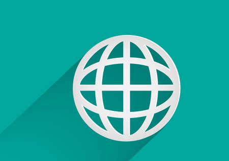 global logistics: Globe earth vector