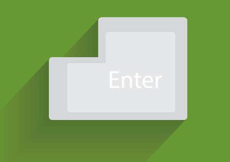 computer key: Vector computer key