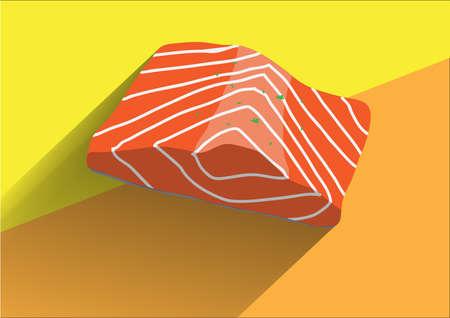 salmon fillet: Fresh Salmon icon Illustration