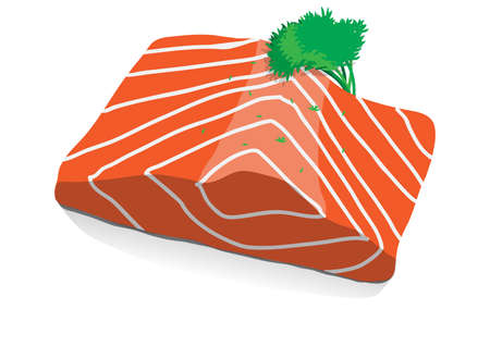fillet: Fresh Salmon Illustration