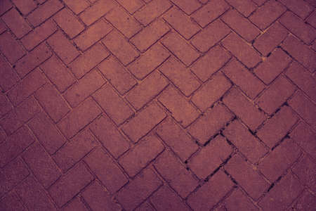 hardscape: Red brick paving stones on a sidewalk Stock Photo