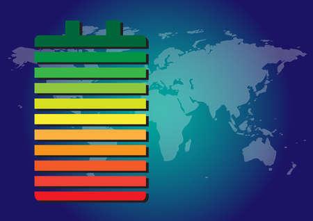 eficiencia energetica: Energy efficiency Vectores
