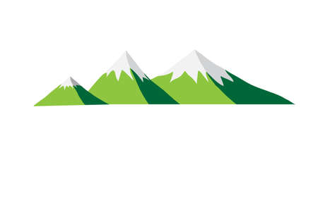 vector element: mountains abstract