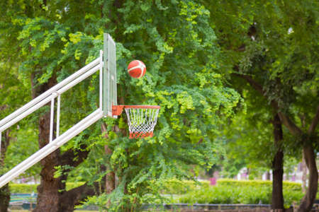 low angles: Scoring the winning points at a basketball game