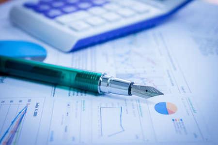 Affichage affaires et rapport financier