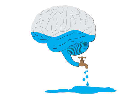 Brain drain Illustration