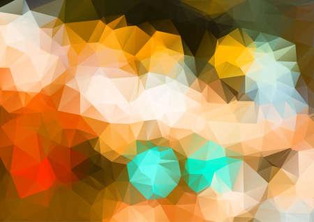 cian: Polygonal background Illustration