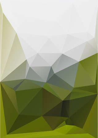 cian: Polygonal green background Illustration