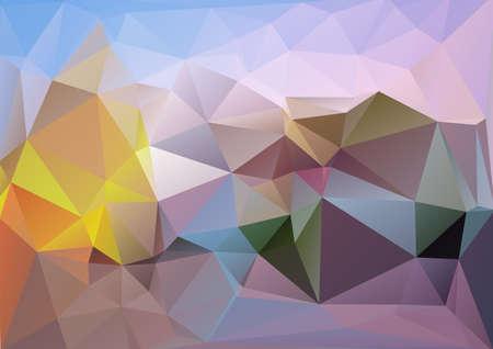 cian: Polygonal blue cold background Illustration