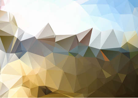 diamond shape: Polygonal blue gold background