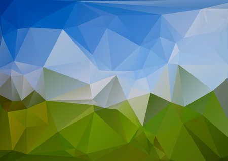 blue and green: Polygonal blue green background