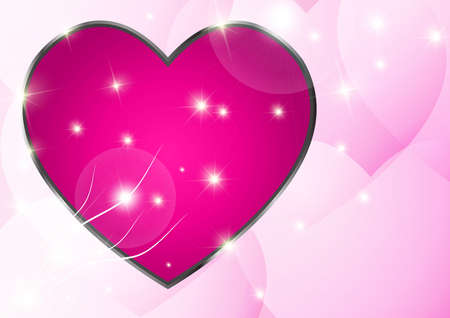 pink heart: Abstract  Pink Heart Stock Photo