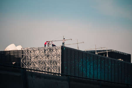 rigger: Workers on a building
