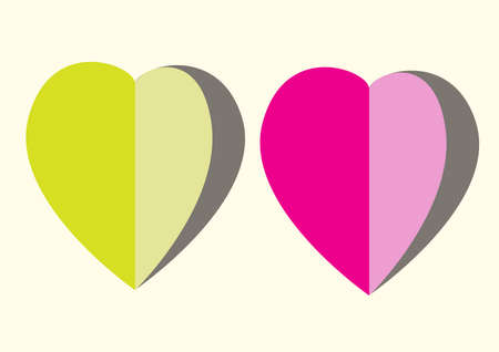 corazones: paper Heart Stock Photo
