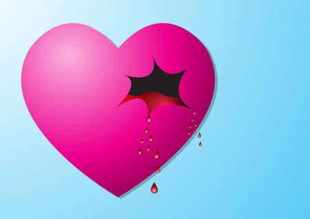 torn: Heart torn Stock Photo