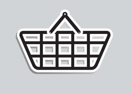 simple store: Shopping basket icon