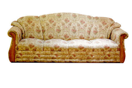 white sofa: sofa furniture isolated on white background Stock Photo
