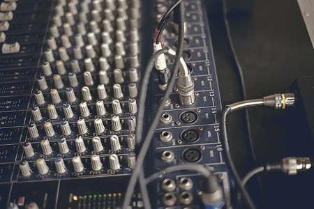 Audio controls Stock Photo