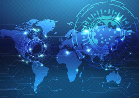 Technology background Illustration