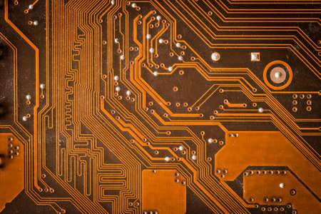 orange pcb motherboard abstract background texture