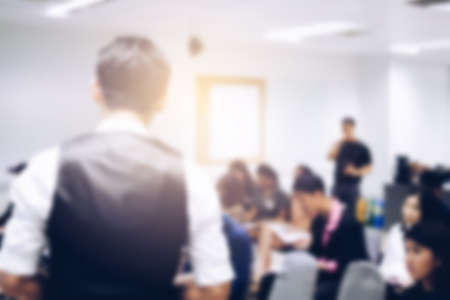 Blurred view of people at business training Banco de Imagens - 92495818