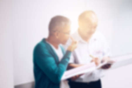 Blurred view of people at business training Banco de Imagens - 92495820