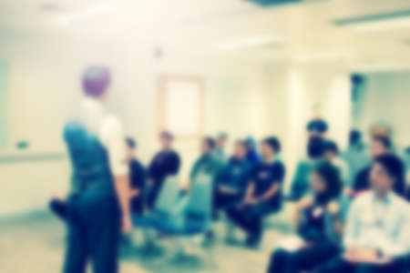 Blurred view of people at business training Banco de Imagens - 92495821