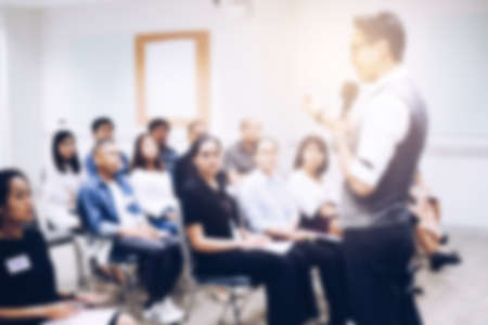 Blurred view of people at business training Banco de Imagens - 92495823