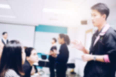 Blurred view of people at business training Banco de Imagens - 92493713