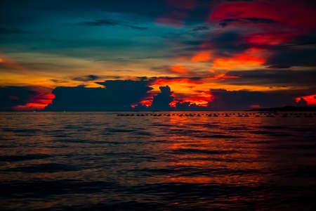 sea sunset.beautiful sky colorful sunset on the sea.