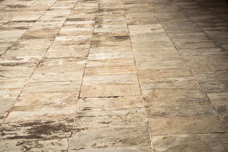 Abstract background of old cobblestone pavement close-up. Banco de Imagens - 131441493