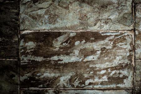 grey Slate stone wall textured background close-up Banco de Imagens - 131441711