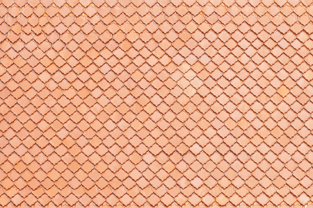 Clay roof tile background or texture and copy space Stock Photo