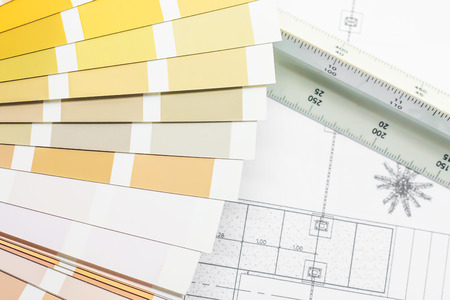 Sample color scheme for building design 写真素材